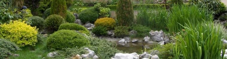 скален кът и воден ефект